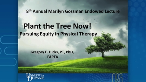 Thumbnail for entry Greg Hicks Marilyn Gossman Lecture 2021