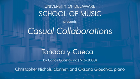 Thumbnail for entry Casual Collaborations: Nichols and Glouchko