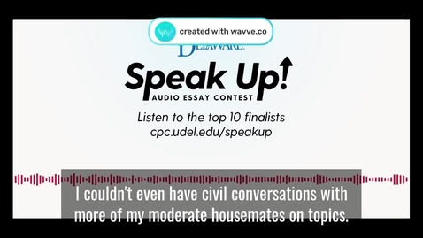 Thumbnail for entry Top 10 Finalists Waveform Video_Speak Up_FEB20_Captioned60