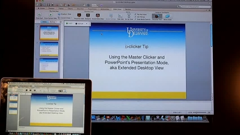 Thumbnail for entry 8 iClicker: Using the extended desktop with Powerpoint's Presenter View