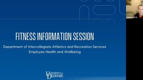 Thumbnail for entry Fitness Information Session