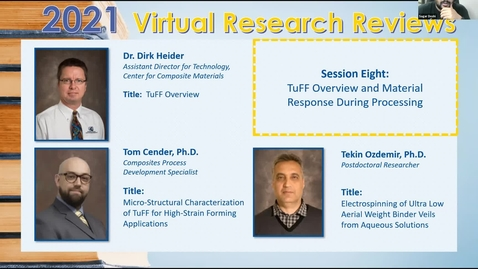 Thumbnail for entry TuFF Overview and Material Response During Processing