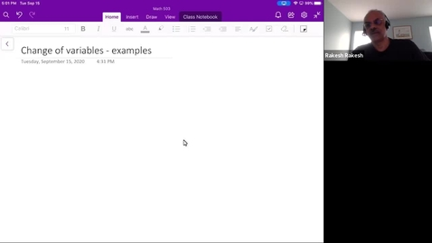 Thumbnail for entry Change of variables - examples