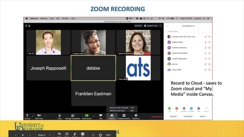 Thumbnail for entry Personal Recording with Zoom and UD Capture