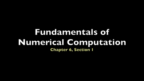 Thumbnail for entry FNC 6.1: Initial-value problems