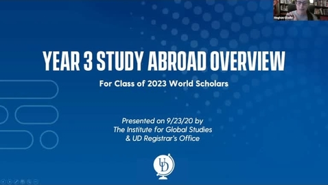 Thumbnail for entry UD World Scholars Year 3 Study Abroad Overview