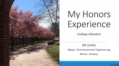 Thumbnail for entry Lindsay Johnston —Honors Program