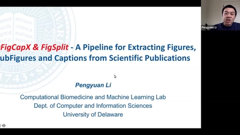 Thumbnail for entry PDFigCapX and FigSplit - a Pipeline for Extracting Figures, SubFigures and Captions from Scientific Publications, Pengyuan Li