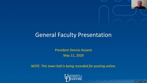 Thumbnail for entry General Faculty Meeting May 11 2020