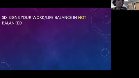 Thumbnail for entry Day of Wellbeing: Work/Life Balance