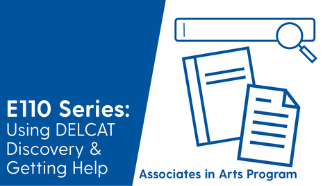 Thumbnail for entry 4 - E110 - Using DELCAT Discovery - Associates in Arts Program (Video 4 of 4)