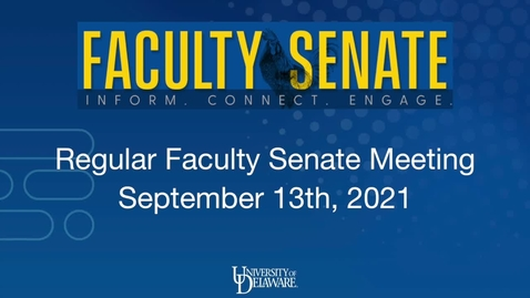 Thumbnail for entry General Faculty Meeting September 13th, 2021