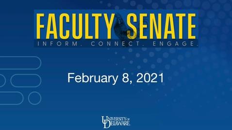Thumbnail for entry Regular Faculty Senate Meeting Feb 8th, 2021