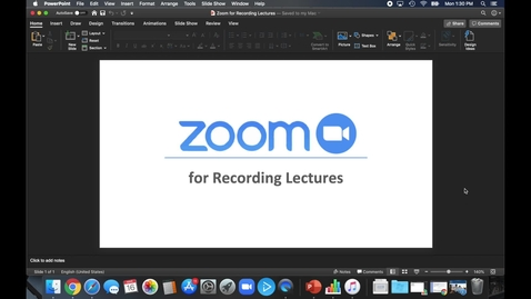 Thumbnail for entry Using Zoom to Record Lectures
