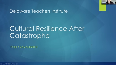 Thumbnail for entry Cultural Resilience After Catastrophe