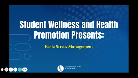 Thumbnail for entry Basic Stress Management