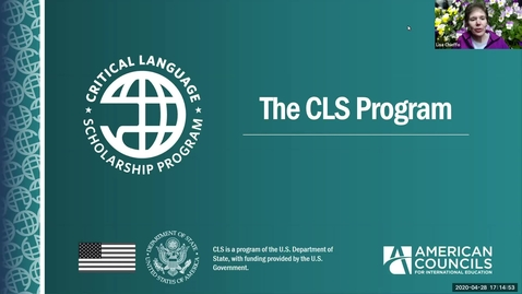 Thumbnail for entry Critical Language Scholarship (CLS) Information Session