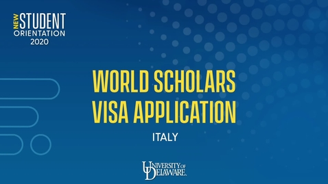 Thumbnail for entry UD World Scholars 2020-21 Visa Application How-To: Italy