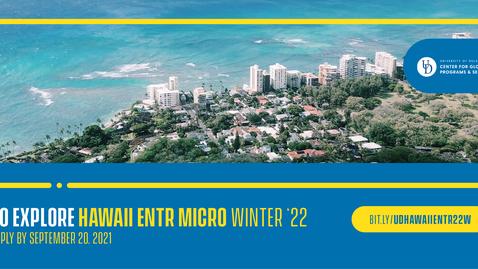 Thumbnail for entry 22W Hawaii ENTR - micro