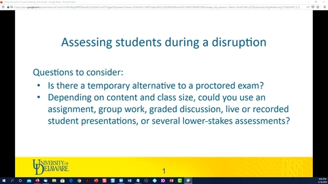 Thumbnail for entry Assessing students online