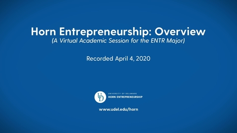 Thumbnail for entry Entrepreneurship —Lerner College of Business and Economics