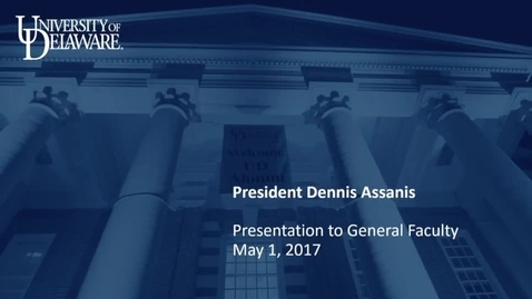 Thumbnail for entry 2016-2017/11General Faculty and Faculty Senate Meetings May 1st, 2017.mp4