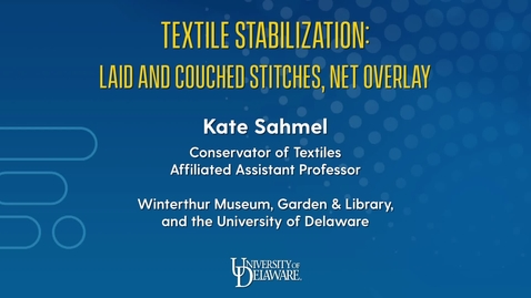 Thumbnail for entry Textile Stabilization: Laid and Couched Stitches, Net Overlay