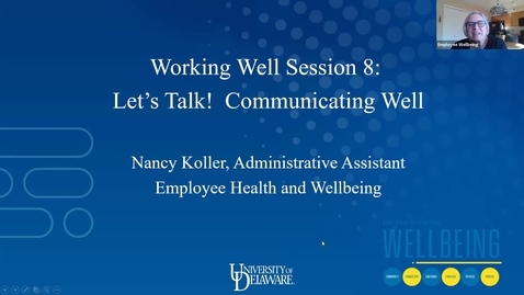 Thumbnail for entry Working Well: Let's Talk! Communicating Well
