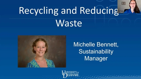 Thumbnail for entry Sustainability Series: Reduce and Recycle