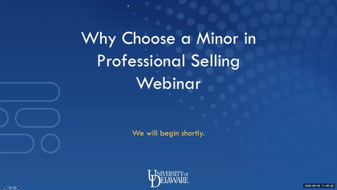 Thumbnail for entry Why Choose a Minor in Professional Selling 9.4.2020