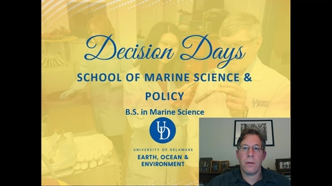 Thumbnail for entry School of Marine Science and Policy — College of Earth, Ocean and Environment