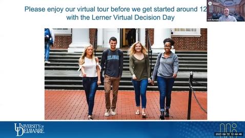 Thumbnail for entry Lerner Visit Day April 10, 2021