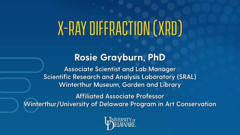 Thumbnail for entry X-Ray Diffraction (XRD)