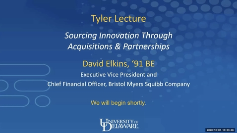 Thumbnail for entry Tyler Lecture with David Elkins