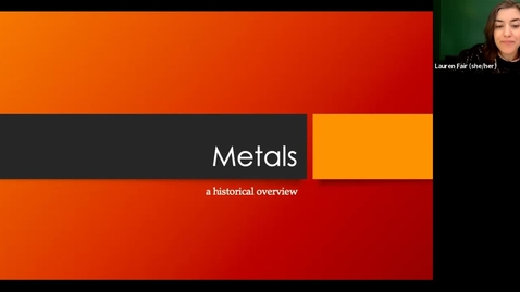 Thumbnail for entry live lecture 3/15/2021: world history of metals