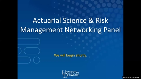 Thumbnail for entry Actuarial Science & Risk Management Networking Panel