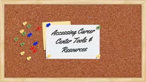 Thumbnail for entry An Evening Discussion: Accessing the Career Center Tools