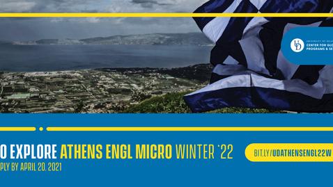 Thumbnail for entry 22W Athens ENGL - micro