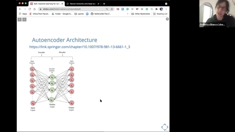 Thumbnail for entry DNN architectures and Autoencoders