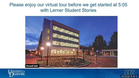Thumbnail for entry Lerner Virtual Visit: Student Stories 2.23.2021