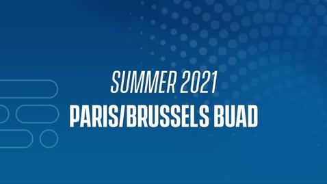Thumbnail for entry 21J Paris/Brussels BUAD