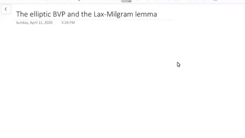 Thumbnail for entry The elliptic BVP and the Lax-Milgram lemma