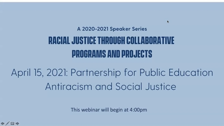 Thumbnail for channel Racial Justice Through Collaborative Programs and Projects