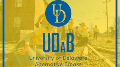 Thumbnail for entry UD Alternative Breaks Program (UDaB)