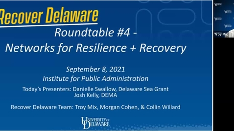 Thumbnail for entry Recover Delaware Roundtable #4