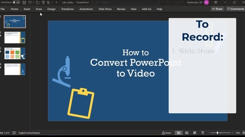 Thumbnail for entry Save PowerPoint as Video / Publish to UD Capture