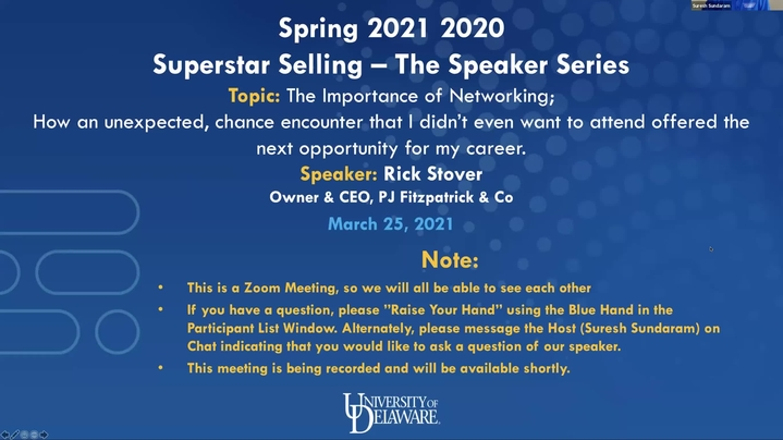 Thumbnail for channel Superstar Selling - The Speaker Series