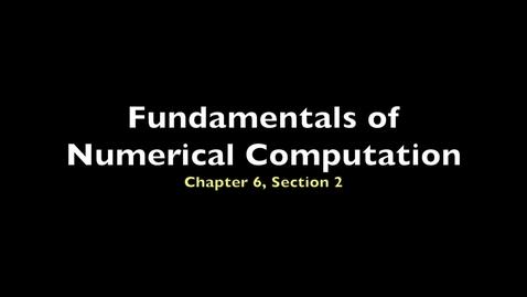 Thumbnail for entry FNC 6.2: Euler's method