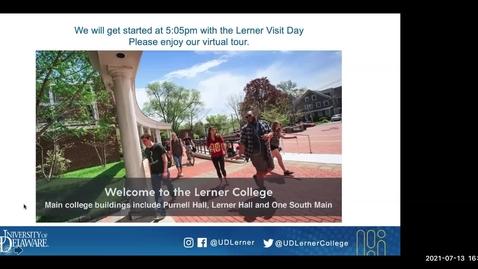 Thumbnail for entry Lerner Virtual Visit July 13, 2021