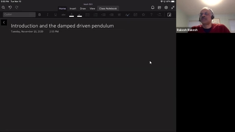Thumbnail for entry Introduction and the damped driven pendulum